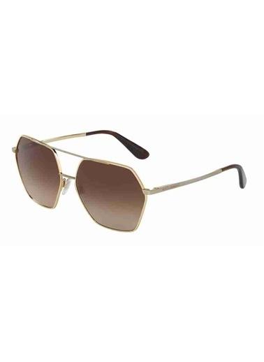 Dolce&Gabbana Dolce & Gabbana 2157 129713 59 Ekartman Unisex Güneş Gözlüğü Altın